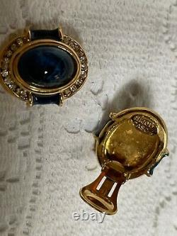 A pair of vintage christian dior bijoux clip on earrings
