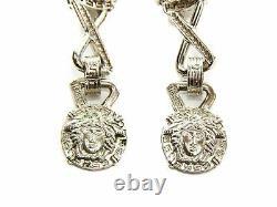 Authentic Gianni Versace Medusa logo vintage Silver-tone clip on earrings