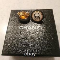 Authentic Vintage Chanel clip-on earrings 1996