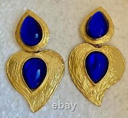 Boucles d'oreilles Pendantes CLIPS YVES ST LAURENT Vintage
