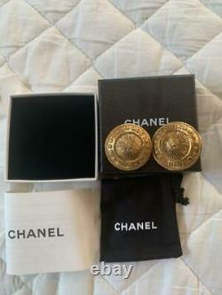 CHANEL Vintage Earrings Clip-on Authentic withBox F/S