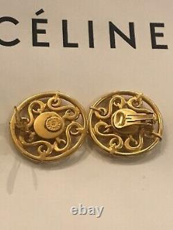 Celine Paris Costume Jewelry Clip On Earing Vintage 1989 Chanel Bottom Style