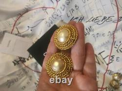 Chanel Vintage Clip Ons Earrings Stamped