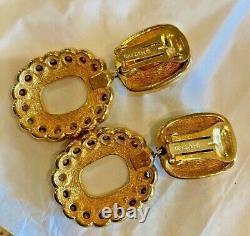 Christian Dior Vintage Large Runway Clip Earrings RARE