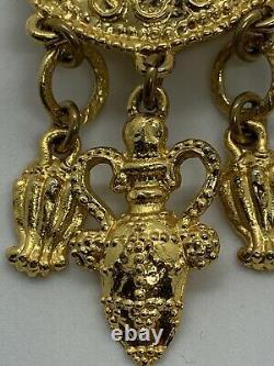 Edouard Rambaud Vintage Clip On Gold Tone Earrings