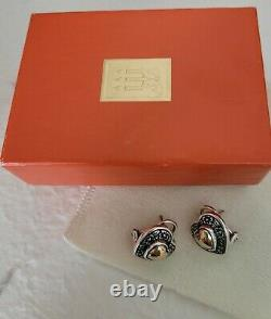 James Avery Heart of Gold French Clip Earrings Retired Beautiful Vintage