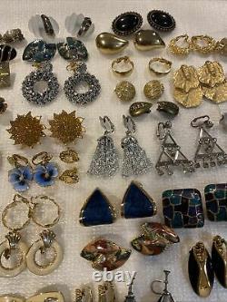 Lots Of 89 Pairs Of Vintage Earrings Clip On
