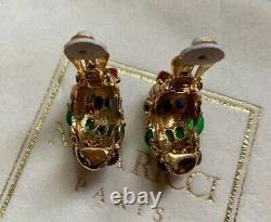 NINA RICCI GRIPOIX Glass Clip Earrings