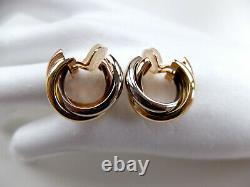 Paar Vintage CARTIER Creolen Clips Earrings gefertigt in 750 Gelb-Weiß-Rotgold