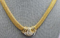 Stunning 1970's Vintage Christian Dior Mesh Choker Necklace & Clip Earrings