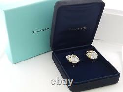 TIFFANY & Co Schlumberger Vintage Plat & 18K 6 ct Round Diamond Earrings Clip-on