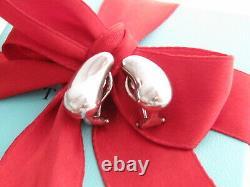 Tiffany & Co Silver Peretti Teardrop Bean Clip On Earrings Rare Vintage