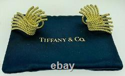 Tiffany & Company Vintage Jean Schlumberger Rope Design 18K Yellow Gold Earrings
