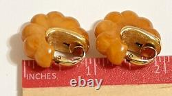 Vintage 1976 Givenchy Clip On Earrings Signed Givenchy Paris New York 1976