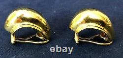 Vintage 750 Tiffany & Co. Paloma Picasso 18k Yellow Gold Domed Earrings