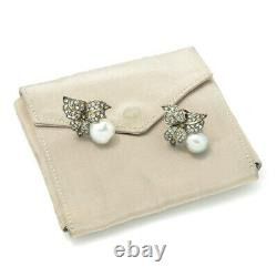 Vintage Buccellati Pearl Clip-On Floral Earrings with Diamonds 18K 2.50ctw