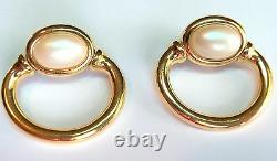 Vintage CHIC GOLD PLATED PEARL CLIP GIVENCHY EARRINGS Estate Jewelry