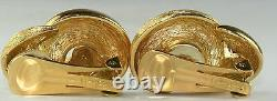 Vintage Christian Dior Textured Clip Earrings