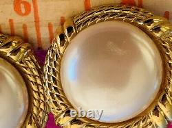 Vintage Givenchy Faux Pearl Clip, Very Classy