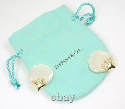 Vintage Tiffany & Co Angela Cummings 18K Gold Mother of Pearl Petal Clip Earring