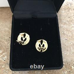 Vintage Valentino Gold V Clip On Earrings Rare And Collectable
