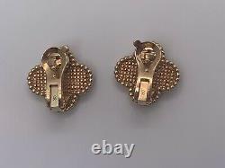 Vintage Van Cleef & Arpels 18K Rose Gold Alhambra Earrings