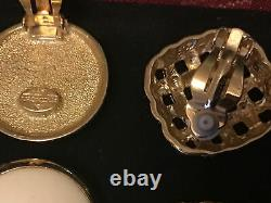 Vtg lot Dior/ Givenchy clip on earrings/necklace