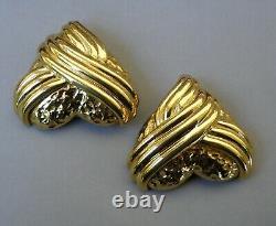 Yves Saint Laurent YSL Earrings Large Vintage Splendid Heart form