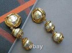 Yves Saint Laurent YSL Earrings Vintage with Beads