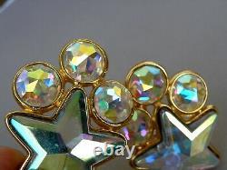 Yves Saint Laurent YSL large Earrings Vintage Stars